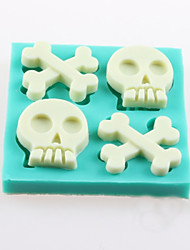 cheap -Bones Of The Skull Fondant Cake Chocolate Silicone Molds,Decoration Tools Bakeware