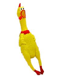 Brinquedos para Animais Brinquedos que Guincham rangido Galinha & Pintinho Borracha