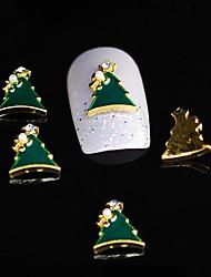 10pcs Dimond árvore xmas liga 3d prego strass diy unha arte decoração