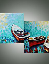 cheap -IARTS  2 Panels Artist Xander Still Life Boat Wall Art Handmade Painting Original Artwork For Living Room Decoration