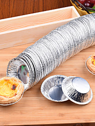 cheap -50PCS Disposable Foil Egg Tart Die round Egg Tart Cup Bottom Bracket Shell Aluminum Foil Egg Tart Egg Tart 50