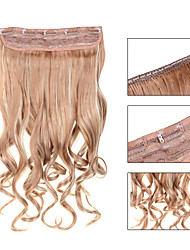 お買い得  -5クリップは、利用可能な女性のより多くの色のための毛延長でイチゴブロンド(#27)人工毛クリップを波状