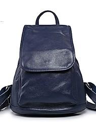 baratos -Mulheres Bolsas Pele mochila para Esportes / Ao ar livre Preto / Azul Real
