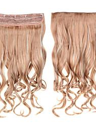 Недорогие -фигурные клип в наращивание волос 1шт 24inch 60см шиньоны # 18/613 смешанный цвет свернуться волнистые длинные синтетические выдвижения
