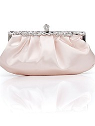 Women Bags Spring Summer Fall Winter All Seasons Satin Evening Bag Ruffles for Wedding Event/Party Formal Outdoor Office & Career White