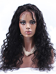 Indian Virgin Hair Wig Loose Curly Full Lace Human Hair Wigs For Black Women Natural Color Glueless Full Lace Wig