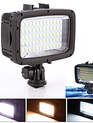 40m Waterproof Diving 60 LED Video Light Lamp for GoPro Hero 4 3 3 DSLR Camera Without  Battery