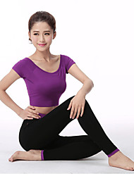 Women's Running T-Shirt with Pants Long Sleeves Breathable Soft Comfortable Tights Compression Clothing for Yoga Exercise & Fitness