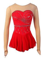 cheap -Figure Skating Dress Women's Girls' Ice Skating Dress Long Sleeves Outdoor clothing Performance Skating Wear High Elasticity Elastane