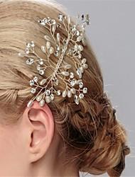 billige -imiteret perle rhinestone hår kamme hovedstykke klassisk feminin stil