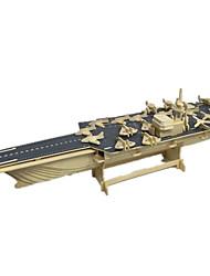 Недорогие -3D пазлы Модель дерева Наборы для моделирования Игрушки Авианосец Оригинальные Дерево Мальчики Девочки 1 Куски
