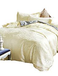 bedtoppings 4pcs set queen 1 piumino copripiumino trapunta / 1 piatto modello cotone foglio / 2 jacquard federa ricca miscela di poli