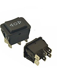 Universal Car 6 Pins On-Off-On Momentary Rocker Switch AC 250V/10A 125V/15A