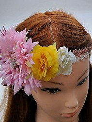 Women's Lace Fabric Headpiece-Wedding Special Occasion Tiaras Headbands Flowers 1 Piece