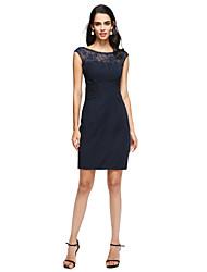 preiswerte -Eng anliegend Schmuck Kurz / Mini Chiffon Spitze Ball Kleid mit Plissee durch TS Couture®