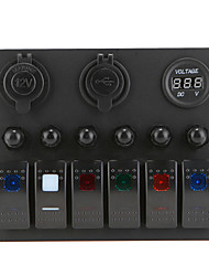 cheap -LOSSMANN Overload Protection Car/Ship Modified Panel Switch Socket/Double USB Charger