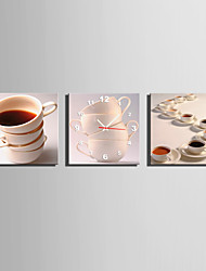 MINI SIZE E-HOME The Art Of The Cup Clock in Canvas 3pcs