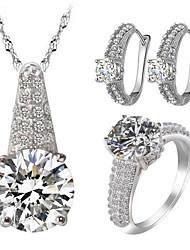 Da donna Set di gioielli Strass imitazione diamante Amore Gioielli di Lusso bigiotteria Zirconi Zircone cubico Strass Lega 1 collana 1