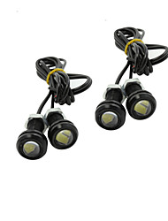 4X 9W LED Eagle Eye Light Car Fog DRL Daytime Reverse Backup Parking Signal black 12V