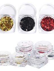 cheap -12Pcs/box Nail Jewelry Glitters Fashion High Quality Daily