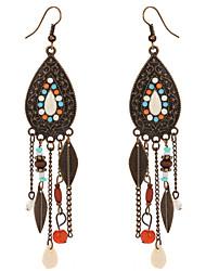 cheap -Women's Drop Earrings Multi-stone Tassel Bohemian Fashion European Resin Alloy Jewelry Party Daily Casual Costume Jewelry