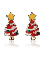 cheap -Stud Earrings Alloy Chrismas Red/White Jewelry Party Daily Christmas Gifts 1 pair