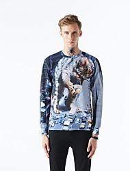 Muži Aktivní Šik ven Punk & Gothic Běžné/Denní Sportovní Klub Mikina 3D tisk Velkoformátové Kulatý Lehce elastické Polyester Podzim Zima