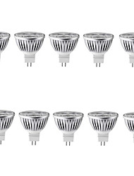 10pcs 4W MR16 LED Spotlight MR16 3 High Power LED 400lm Warm White Cold White Decorative DC12V 10pcs