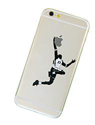 For iPhone 7 Plus Basketball Pattern TPU Transparent Soft Phone Case for iPhone 5/5S
