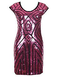 abordables -Mujer Corte Bodycon Vestido A Rayas Tiro Alto Mini