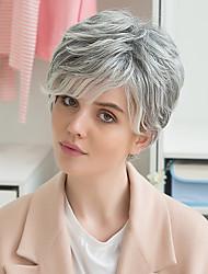 Χαμηλού Κόστους -μόδας μικρό φυσικό κύμα ανθρώπινων μαλλιών ombre περούκα για τις γυναίκες