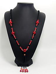 Dame Halskædevedhæng Krystal Perle Krystal Unikt design Hængende Kærlighed Multi-bæremåder beklædning Euro-AmerikanskGrå Lilla Rød Grøn