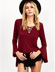 2016 AliExpress chest strap sexy new Feifei sleeve T-shirt hot new push