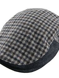 cheap -Unisex Polyester Beret Hat - Check
