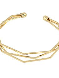 cheap -Punk Design Braided Metal Thin Cuff Bracelet Jewelry