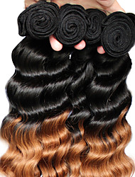 cheap -Brazilian Classic Loose Wave Human Hair Weaves 3 Pieces High Quality Hot Sale 0.3 Daily