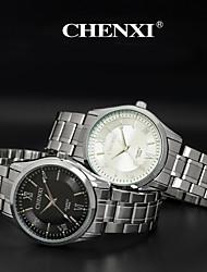 CHENXI® Pánské Náramkové hodinky Křemenný Japonské Quartz Hodinky na běžné nošení Nerez Kapela Stříbro