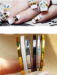 cheap -5Pcs Mixed Colorful Beauty Striping Line Sticker Box Holder Foil Tips Tape Line For Nail Tools Decorations