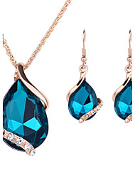 Women's Wedding Party Crystal Alloy 1 Pair of Earrings Necklaces