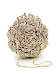 baratos -Mulheres Bolsas Metal Bolsa de Mão Detalhes em Cristal Dourado