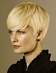 krátká přírodní vlna lidské vlasy paruka pro ženy