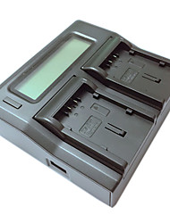 ismartdigi VBG130 260 lcd carregador duplo com cabo de carga do carro para Panasonic VBG130 260 batterys câmera