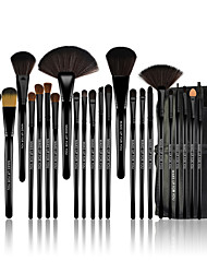 cheap -Make-up For You® 24pcs Makeup Brushes set Pony/Horse Hair Limits bacteria/Professional Black Blush/shadow/Lip/Lash/Powder Brush