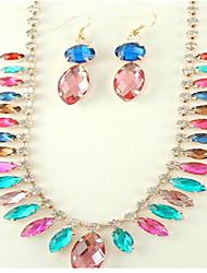 Dámské Sady šperků Křišťál Syntetický diamant Módní Evropský Syntetické drahé kameny Slitina 1 x náhrdelník 1 x pár náušnic Pro Párty