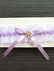 Недорогие -Стретч-сатин Классика Мода Свадебный подвязка  -  Стразы Подвязки