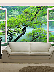 cheap -JAMMORY Art DecoWallpaper For Home Wall Covering Canvas Adhesive required Mural Outside The Window XL XXL XXXL