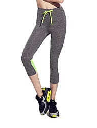 Women's Running Pants Quick Dry Breathable Reduces Chafing Ultra Light Fabric Leggings 3/4 Tights Bottoms for Yoga Pilates Exercise &