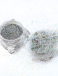 cheap -1g/bottle Shiny Laser Nail Art Glitter Powder Silver/Gold Color Mixed 0.2/0.4/0.6/1mm Design Manicure Tip Tool ND286