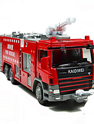 abordables -KDW Jouets Jouets Carré Camions Incendie Métal Classique & Intemporel 1 Pièces Le Jour des enfants Cadeau