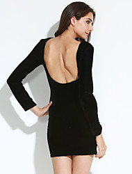 cheap -Women's Sexy Bodycon Long Sleeve Mini Dress